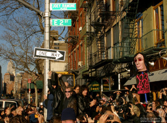 Nov 30 - New York City formally dedicated Joey Ramone Place at Bowery and East 2nd street, where Joey used to live.