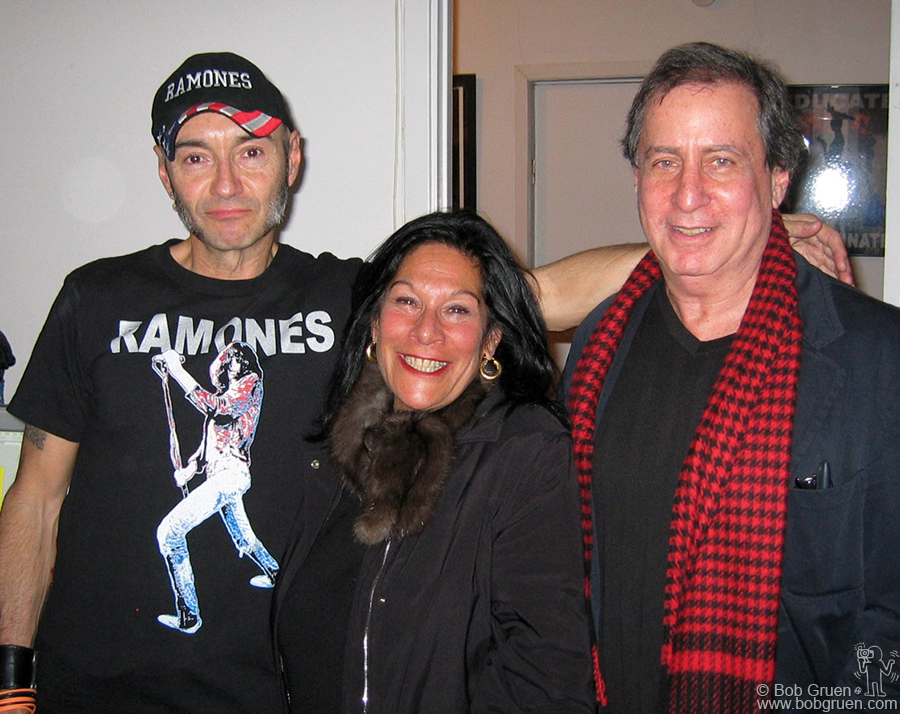 Later at a reception at his loft Ramones art director Arturo Vega greeted original Ramones managers Linda Stein and Danny Fields.