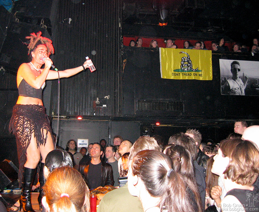 Dec 22 - NYC - Ari Up was one of the artists to pay tribute to Joe Strummer at Irving Plaza.