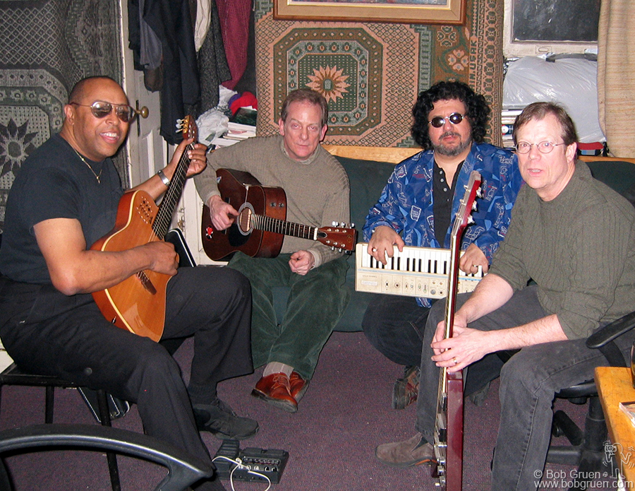 Feb 5 - NYC - The band I lived with in the '60's, the Glitterhouse got together for a reunion. It was fun to see Mike Gayle, Hank Aberle, Moogy Klingman and Al Lax jaming together again.