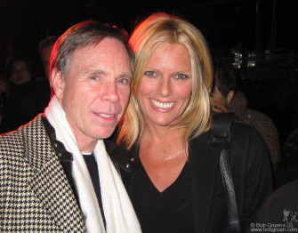 Tommy Hilfiger and Patti Hansen were checkin' out Michael H's show.