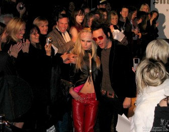 Feb 8 - Then Fashion week started for me with a show of Rock and Roll styles by Michael H (above with a model) at Don Hill's Club.
