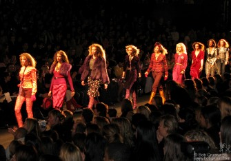 Feb 11 - The models work the runway at Anna Sui's show in the Tent on Sixth Ave.