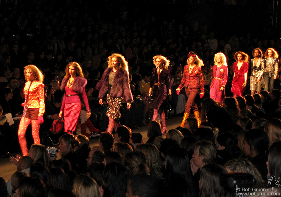 Feb 11 - NYC - The models work the runway at Anna Sui's show in the Tent on Sixth Ave.