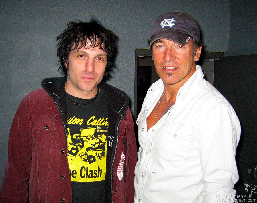 Nov 1 - Asbury Park, NJ - Jesse Malin played with Bruce Springsteen at Bruce's special Christmas Benefit show in Asbury Park, NJ.