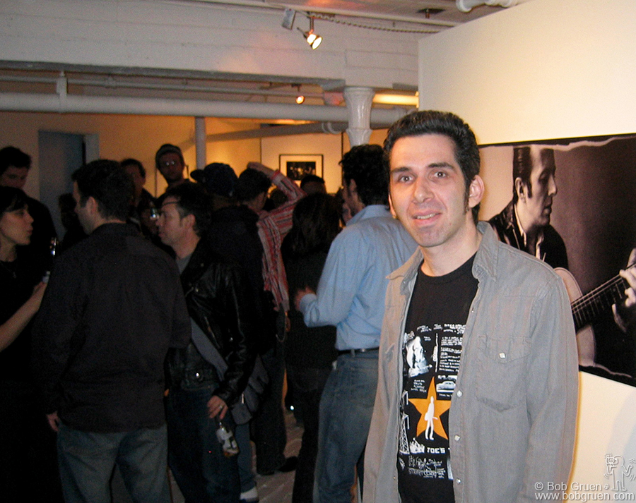 Feb 10 - NYC - Josh Cheuse had an exhibition of his 20 years of photographing rock bands at the Go Fish Gallery.
