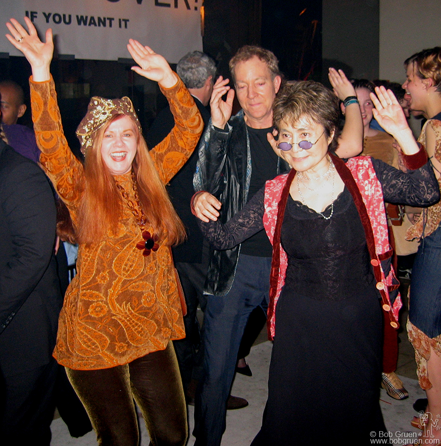 Feb 18 - NYC - Yoko Ono celebrated her 70th birthday at a great party thrown for her by her son Sean. She danced all night with friends (like Kate Pierson and Fred Schneider of the B-52's seen above)