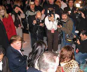 Feb 9 - NYC - Donald Trump was the center of attention at the Marc Jacobs show.