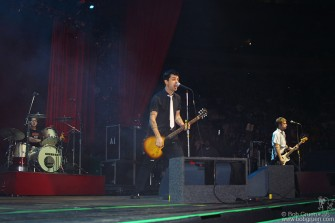 Green Day plays on the big Madison Square Garden Stage.