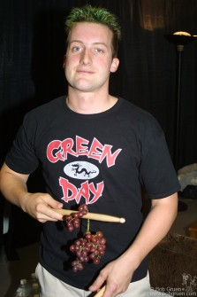 Before the show, Tre sampled some grapes.