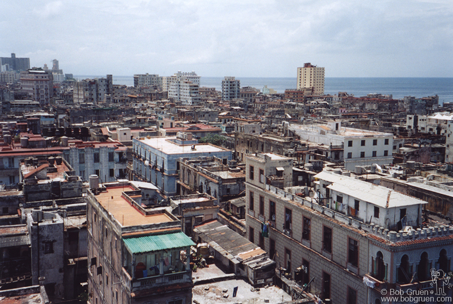 Havana is a beautiful, if somewhat decaying, city on the ocean. Many of the buildings are large Spanish style places with cool leafy courtyards, but they haven't been painted in years.