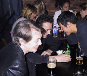 After one of the shows Joe talked with Steve Buscemi and artist Michael Joo at the Water Bar down the street from the gig.
