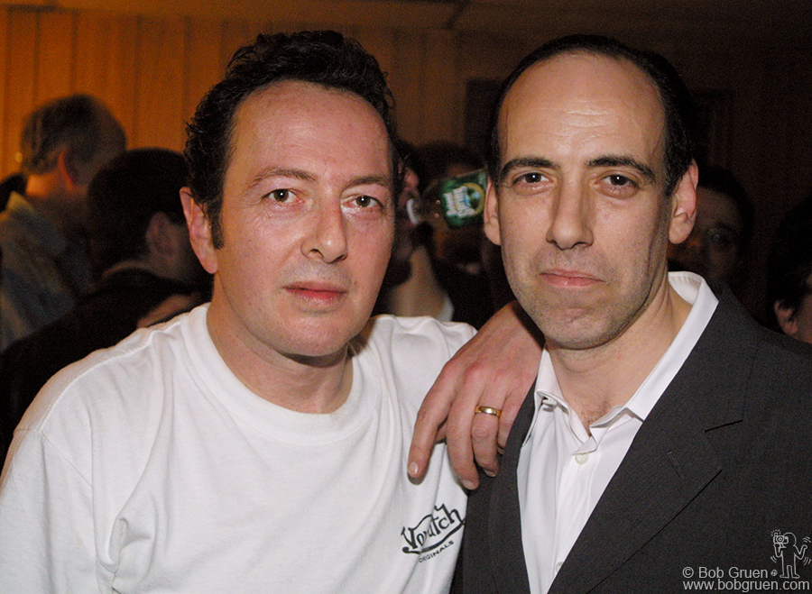 Mick Jones was in town and came to see the first of the shows. He had a good time hanging out with Joe and other old pals.