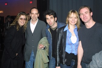 Mick hung out after the show with my wife Elizabeth, Josh Cheuse and his wife, actress Cara Seymour and friend Chris Maguire. Josh, an art director at Sony Records, used to be tour manager for Mick's band 'Big Audio Dynamite' Cara appears soon in the upcoming film Gangs of New York.