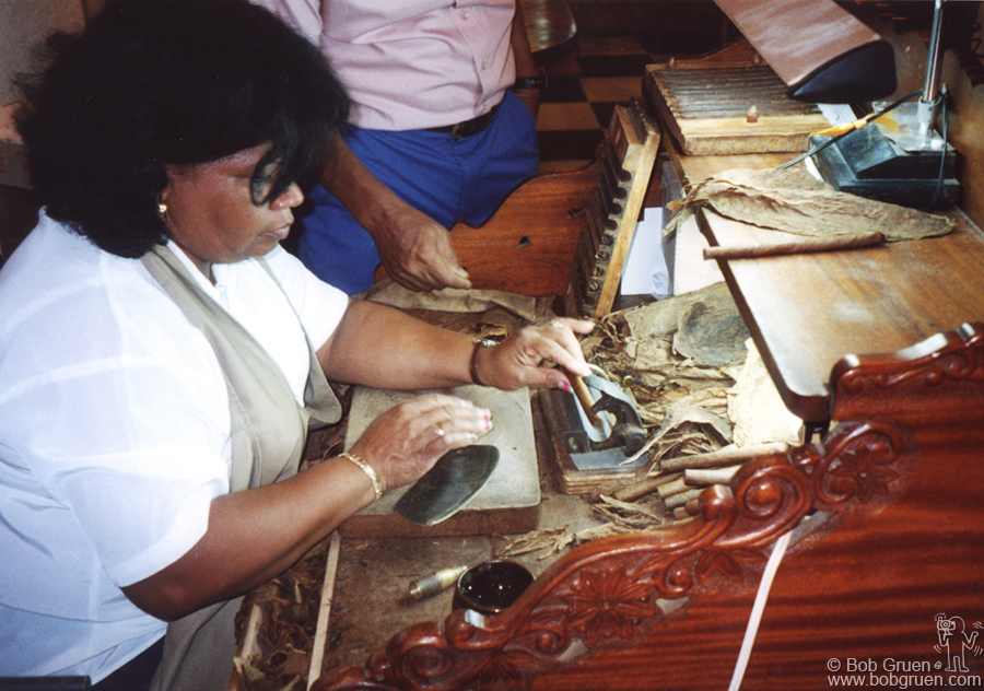 We went to the Partagas cigar factory where I watched the woman above roll cigars. I just recently learned that my grandmother had this job in New York in the early 1900's so it was especially interesting to see how it is done.
