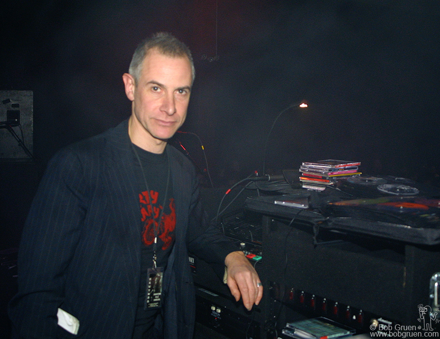 """Barry """"Scratchy"""" Meyers was the DJ for the week. He traveled with the Clash as their DJ in the '70's so it was really fun to have him back again."""