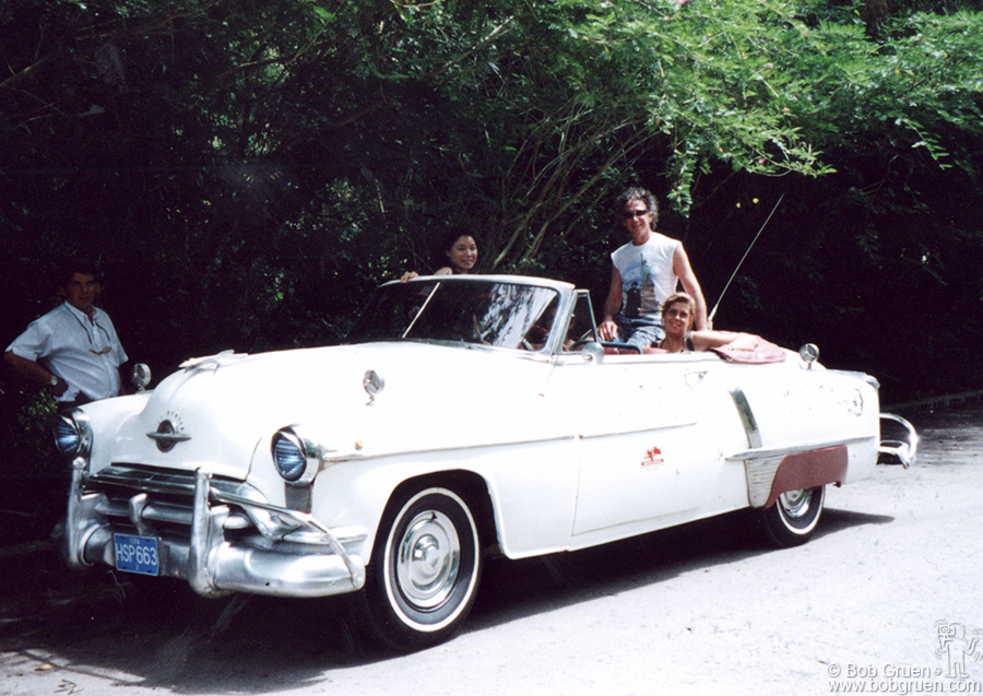 We rented this big old Oldsmobile and took off on a beautiful day for a look at the country.