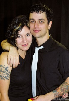 Billie Joe with his wife Adrienne after the show.