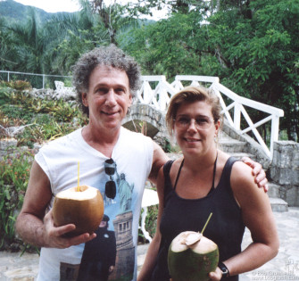 The first stop was at a botanical gardens where they also do research on the growing of orchids. It was a very nice place and we got fresh coconuts with rum after the visit.