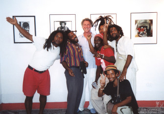 Chris had gone around town inviting everyone who looked like they would like a Rock & Roll party, and managed to invite most of the Rastas in Havana. They had a ball and were happy to pose for a photo with me.