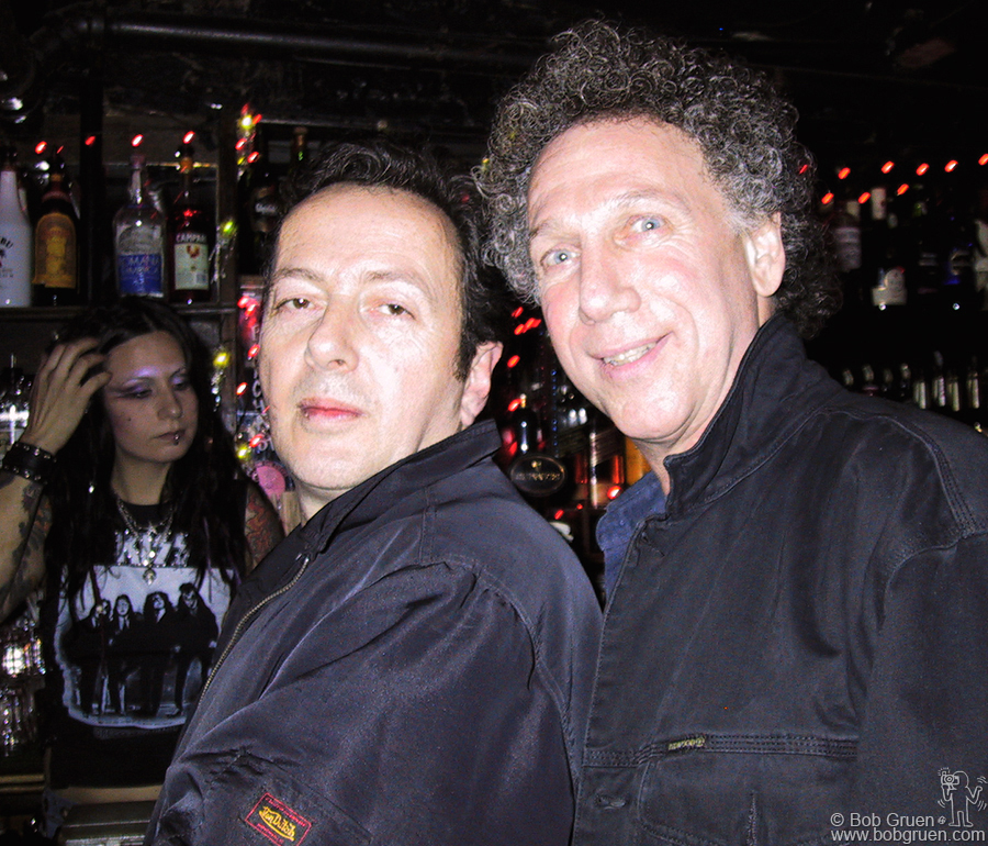 At the party at the Three of Cups I get in a shot with Joe. You can see the bartender behind us is wearing a T-shirt with my photo of Kiss.