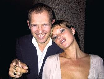 July 19 - Paul Simonon and Kate Moss at Mario Testino's party.
