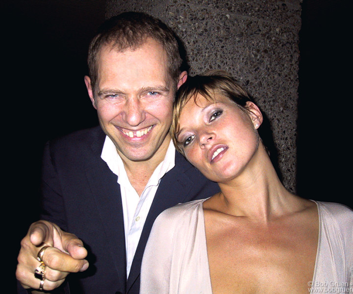 July 19 - London - Paul Simonon and Kate Moss at Mario Testino's party.