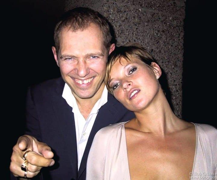 July 19 - London - Paul Simonon and Kate Moss at Mario Testino's party.