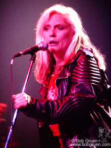 "Debbie Harry led Blondie singing a set of hits and ending with the Ramones ""I Wanna Be Your Boyfriend""."