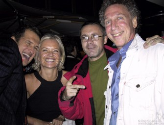 Mario Testino, Mariella Frostrup, Damien Hirst and me, at the Sanderson Hotel, London.