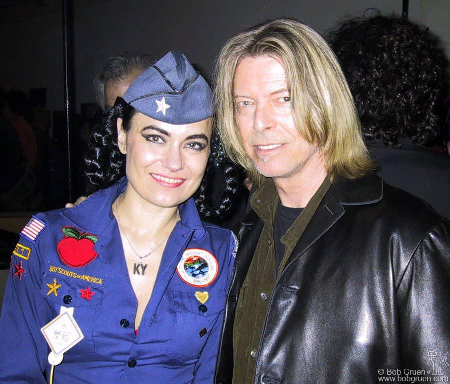 May 15 - NYC - Kristeen Young & David Bowie at CBGB.