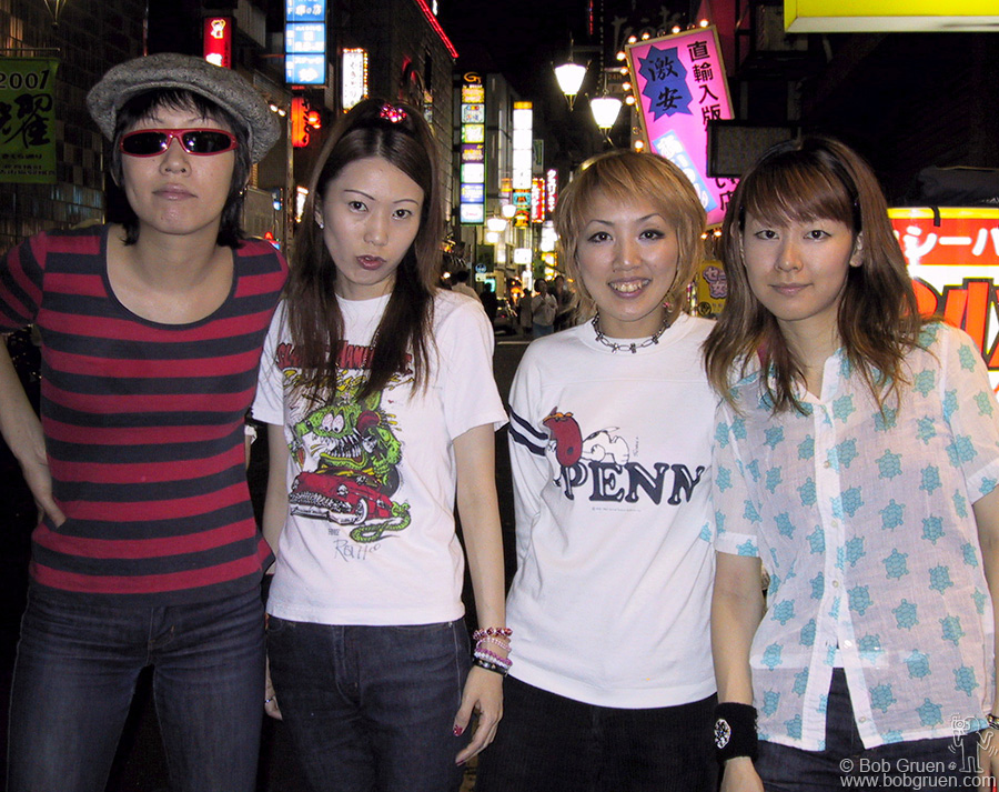 Aug 7 - Tokyo - Before we left Tokyo, we had a chance to meet with the punk band Lolita No. 18, one of the best and hardest working punk bands in Japan.