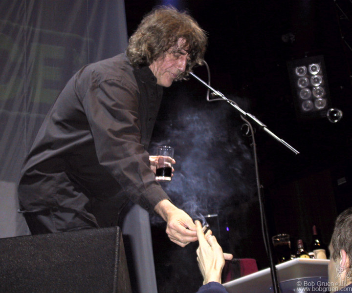 May 3 - London - Howard Marks shares a smoke with a member of the audience at the Ocean Rooms in London.