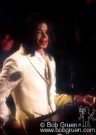 Michael Jackson accepts his award.