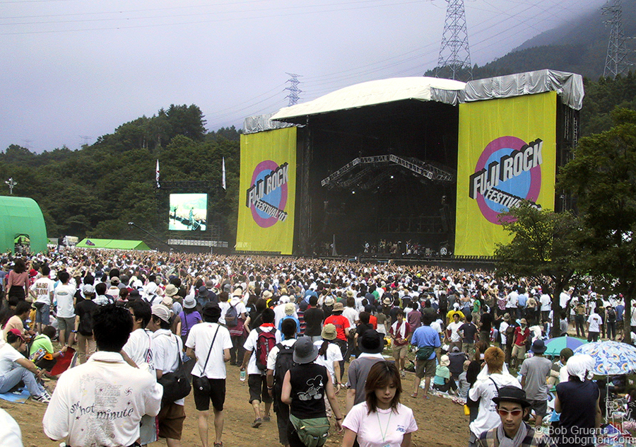 July 27 - Japan - The main stage was very large with an average audience of about 40,000 people out front. There were also two other large stages and several smaller ones as well as a dance shed and a punk club space.