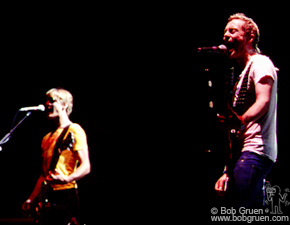 """May 27 - Wallingford, CT - Anthony and Royston sing Spacehog's new song """"I didn't get paid, but at least I got laid""""."""