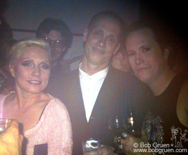 When I first walked in, the place was already so hot and crowded that it was like a sauna. The first photo I took, this one of Debbie Harry, John Waters, and Michael Schmidt was foggy from the moisture on the lens.