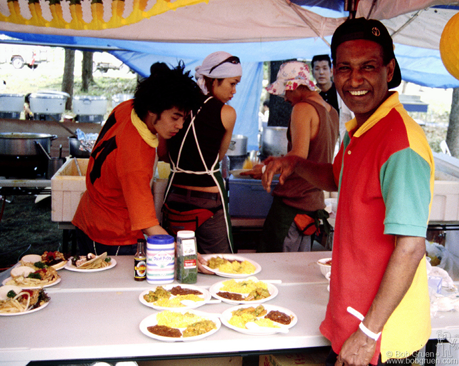 Soloman brought some of his favorite recipes from his Tokyo based Ethiopian restaurant to the Festival. He served many meals all day long, and with his very friendly personality he kept his kitchen and bar open all night long as Masa's clubhouse. We had many a good laugh with him.
