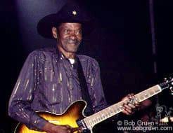 "Clarence ""Gatemouth"" Brown on guitar."