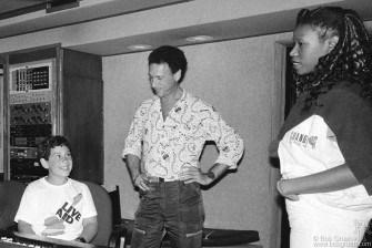 Kris Gruen, Bob Gruen & Wrecia Ford, NYC - 1985