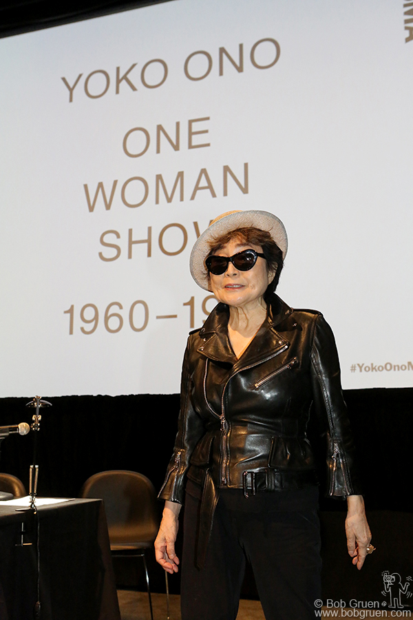 May 12 – NYC - Yoko Ono during the press conference for her exhibition at the Museum of Modern Art, NYC.