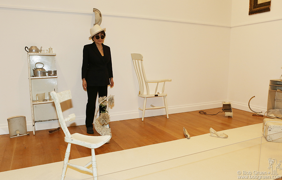 May 12 – NYC - Yoko Ono at the opening of her long overdue exhibition at the Museum of Modern Art, NYC.