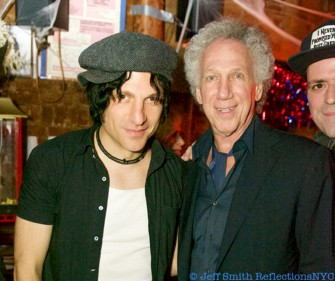 Oct 23 - NYC - Jesse Malin and Bob Gruen during Bob's 70th birthday party at Berlin.