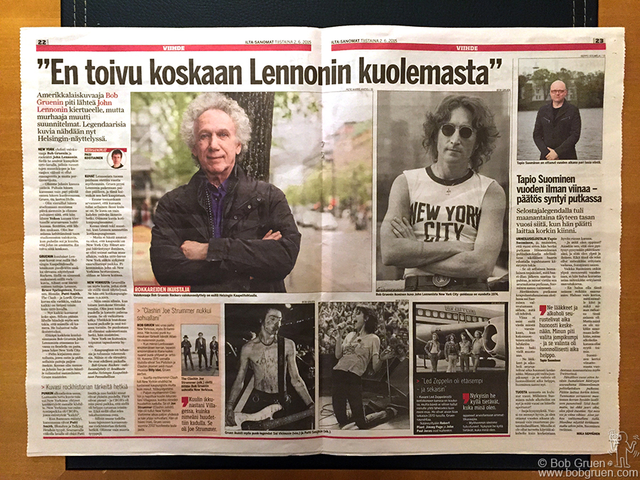 June 2 – Helsinki, Finland – I got great press coverage for my exhibition in the Ilta-Sanomat newspaper.