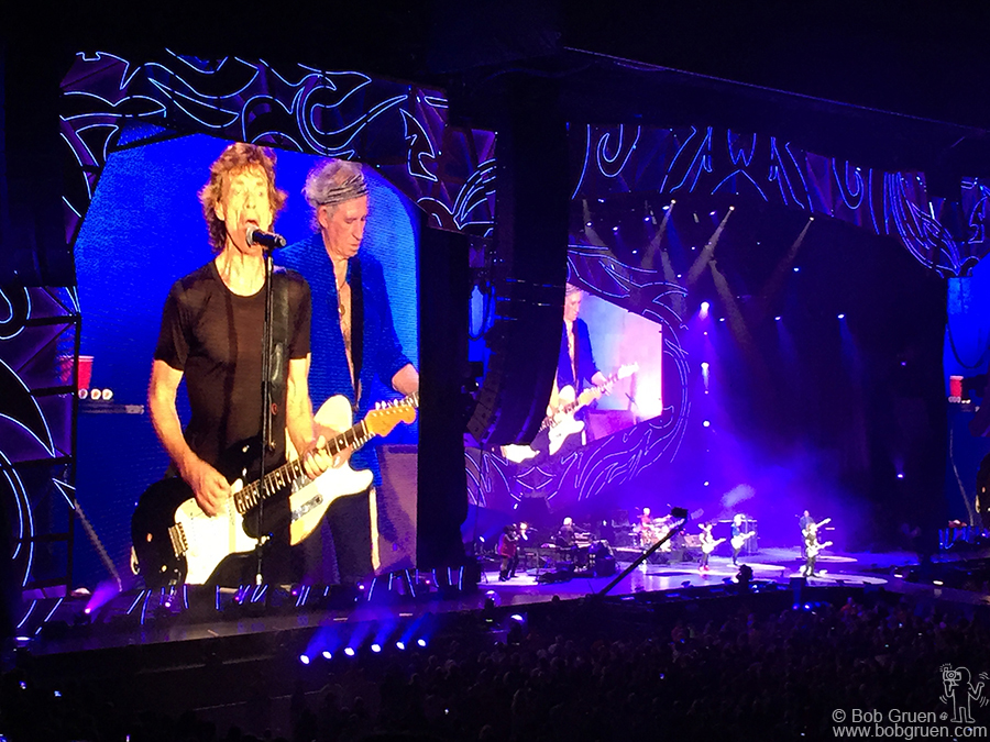 July 1 – Raleigh, NC – Rolling Stones on stage at the Carter-Finley Stadium.
