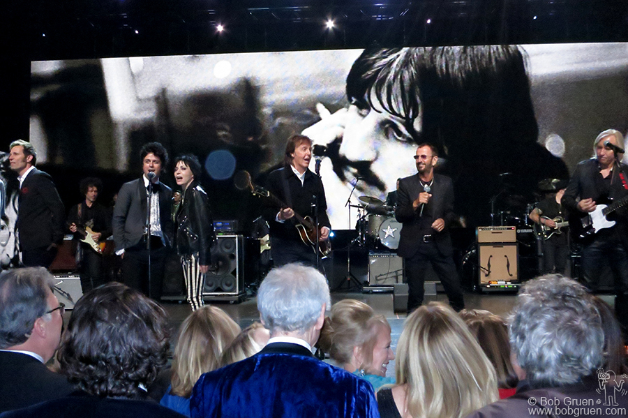 April 18 – Cleveland - Green Day, Joan Jett, Paul McCartney, Ringo Starr and Joe Walsh on stage at the Rock and Roll Hall Of Fame Induction Ceremony in Cleveland, OH.