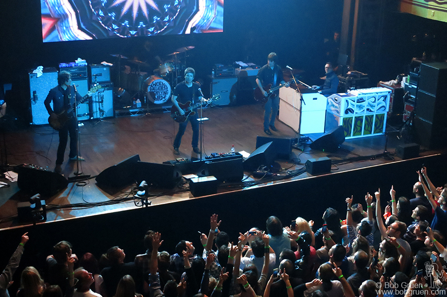 May 7 – NYC - Noel Gallagher's High Flying Birds on stage at Webster Hall, NYC, just before he gave me a big shout-out.