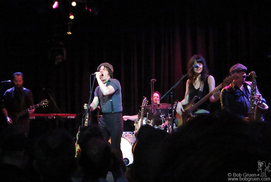 May 29 – Amsterdam, Holland – Jesse Malin and his band on stage at the Paradiso.