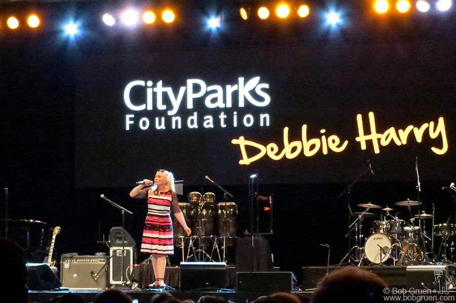 June 22 – NYC – Debbie Harry sings at the City Parks Foundation  Summerstage benefit in Central Park.