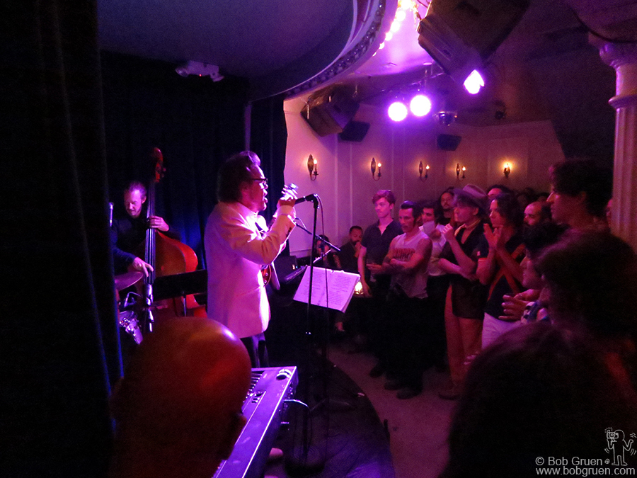 July 28 – NYC – David Johansen as Buster Poindexter at the opening of Jesse Malin's new East Village club, Berlin, at 2nd street and Ave A.